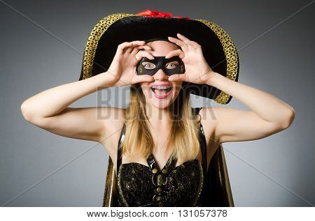 Woman in pirate costume - Halloween concept