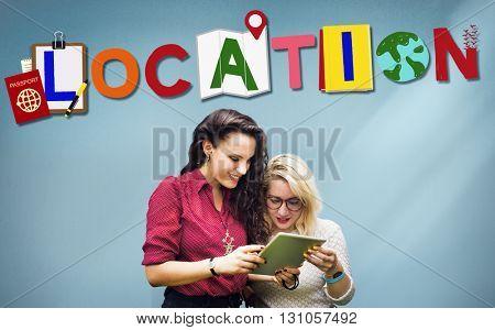 Location Direction Destination Place Route Concept