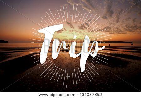 Trip Adventure Destination Journey Tourism Concept
