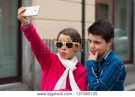 couple during a selfie
