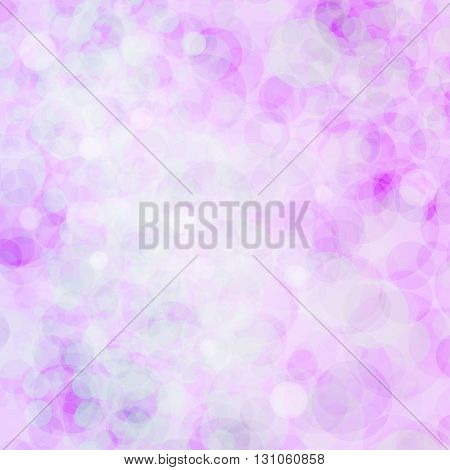 Abstract bokeh. Colorful bokeh. Bright bokeh. Glowing pink-purple bokeh background. Vector illustration.