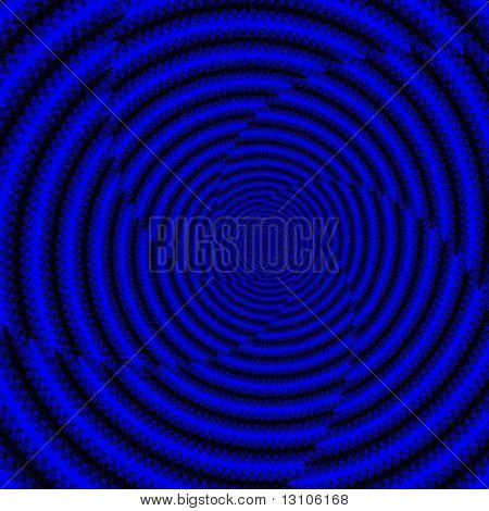 Blue Infinite Spiral on Black