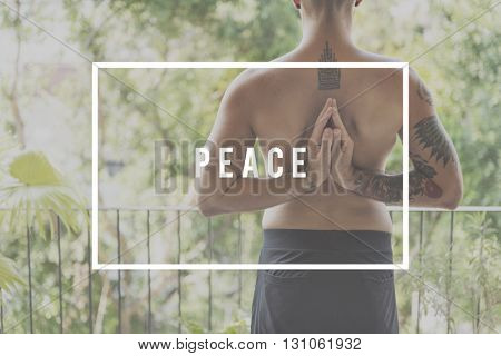 Peace Meditation Practice Power Concept