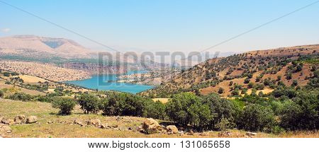 Landscape lake Ataturk in the mountains of eastern Turkey.