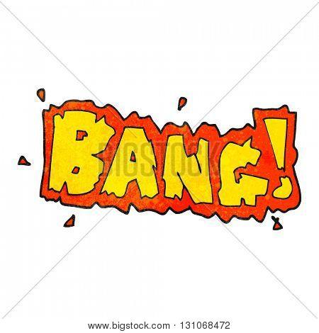 freehand textured cartoon bang symbol poster