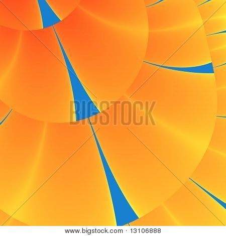 Orange and blue shields