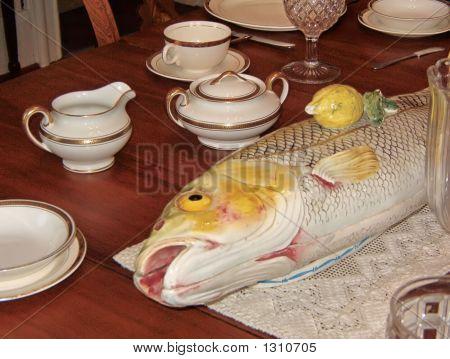 Antique Fish Crockery