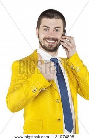 Businessman Talking On The Phone, Thumb Up