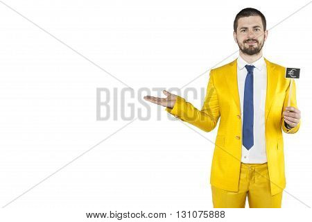 Businessman Advertises A Loan In Euro