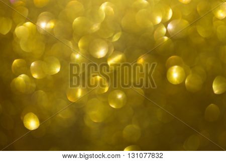 Gold Background, Abstract Golden Bokeh Light Celebration Background