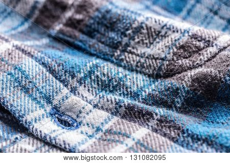 Blue Plaid Button Up Style Shirt