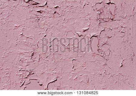 Poorly painted surface (in all the cracks and irregularities) pink. Painted without Stripping the base over the old paint.