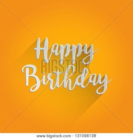 Happy Birthday Lettering Design. Easy to manipulate, re-size or colorize.