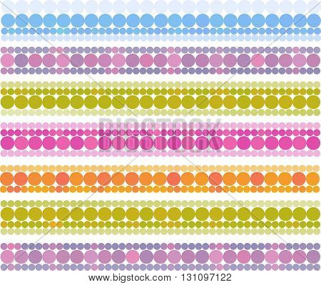 banner bubble bands in multiple cheerful color