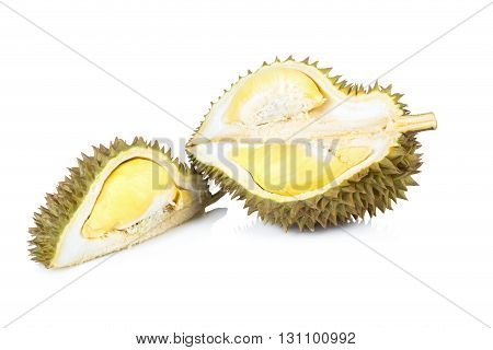 durian asia fruit, durian isolated on white background.