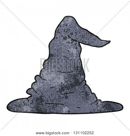 freehand textured cartoon witch hat