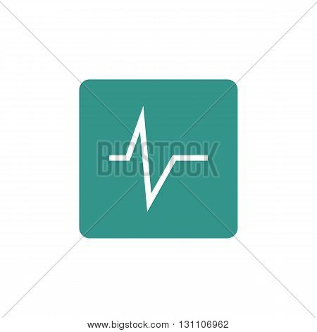 Pulse Icon In Vector Format. Premium Quality Pulse Symbol. Web Graphic Pulse Sign On Green Backgroun