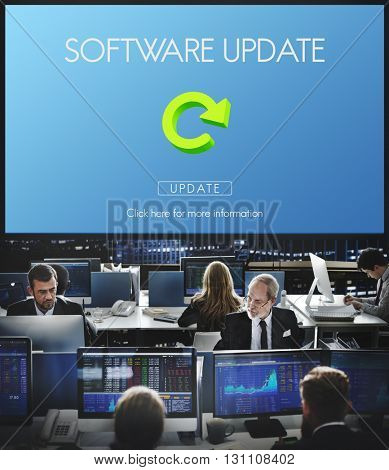 Software Update Website Webpage Networking Concept