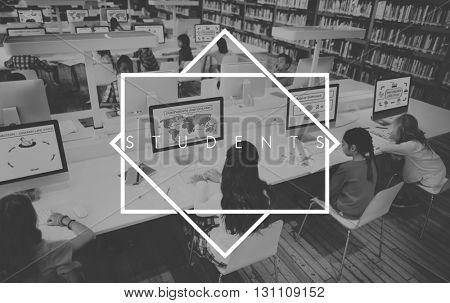 Students Study Hard university School Concept