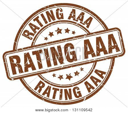 Rating Aaa Brown Grunge Round Vintage Rubber Stamp.rating Aaa Stamp.rating Aaa Round Stamp.rating Aa