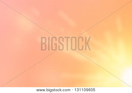 Sunset Sky With Sun Light Abstract Background.