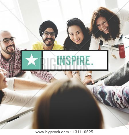 Inspire Aspiration Believe Confidence Dream Big Concept
