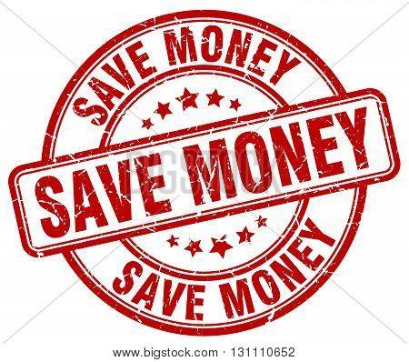 Save Money Red Grunge Round Vintage Rubber Stamp.save Money Stamp.save Money Round Stamp.save Money