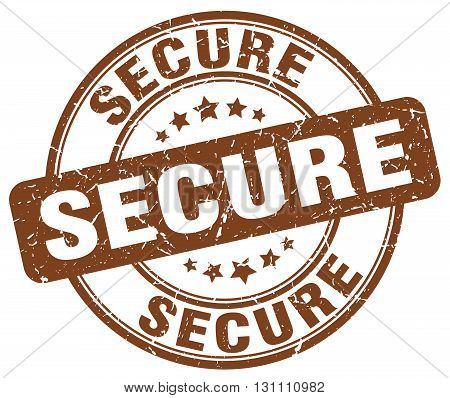 Secure Brown Grunge Round Vintage Rubber Stamp.secure Stamp.secure Round Stamp.secure Grunge Stamp.s