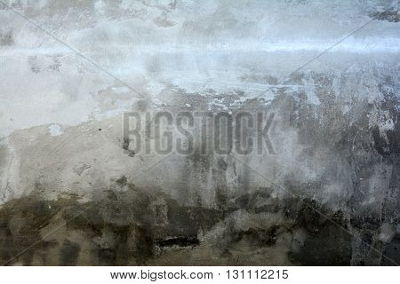 Old wall with cracks and peeling paint. Old lime whitewash. Background. Texture. The wall needs repair. House. Fence. Floor. Ceiling. Mold. Fungus. Corrosion. Flaky. Plaster. Cracks. Decorative Facade