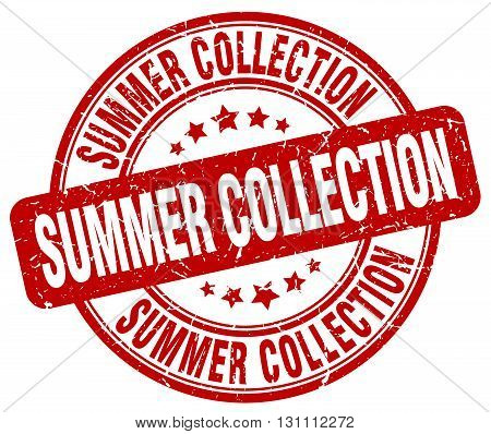 Summer Collection Red Grunge Round Vintage Rubber Stamp.summer Collection Stamp.summer Collection Ro