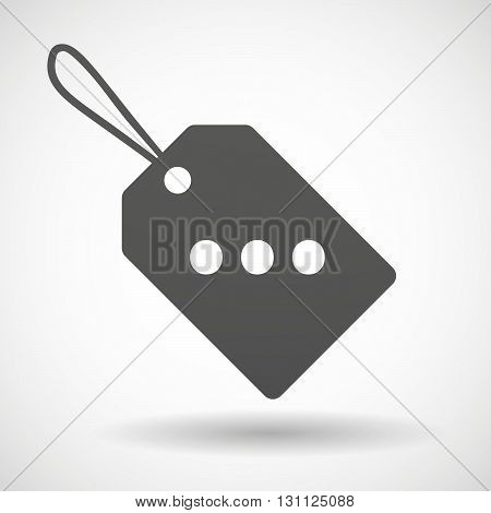 Isolated Shopping Label Icon With  An Ellipsis Orthographic Sign