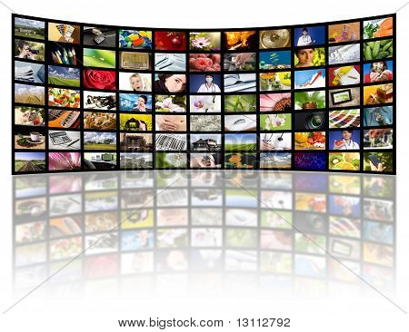 Television Production Concept. Tv Movie Panels