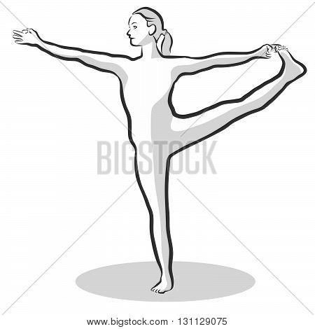 Extended Hand To Big Toe Utthita Hasta Padangustasana Yoga Pose