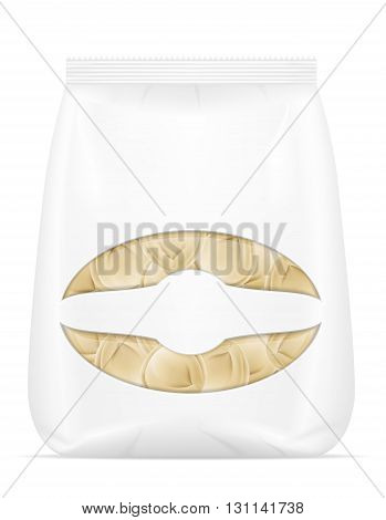 Dumplings Pelmeni Of Dough With A Filling In Packaged Vector Illustration
