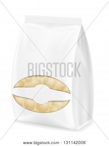 Dumplings Ravioli Of Dough With A Filling In Packaged Vector Illustration