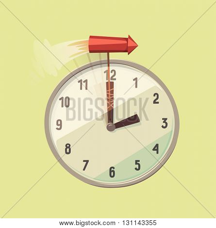 Time speeding. Concept vector illustration.