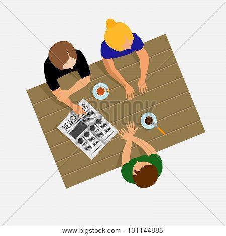Girls Gossiping. Girls Communicate. Girls Talk. Breakfast, Lunch Or Dinner. Gossip. The Conversation