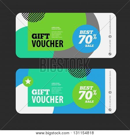 Abstract Gift Voucher Or Offer Design Template. Voucher Design, Blank, Print Design, Coupon. Gift Vo