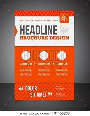 Business Brochure Or Offer Flyer Design Template. Brochure Design, Blank, Print Design, Flyer With T
