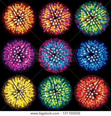 Sparks and Fireworks Vector. Ready for Your Text and Design.