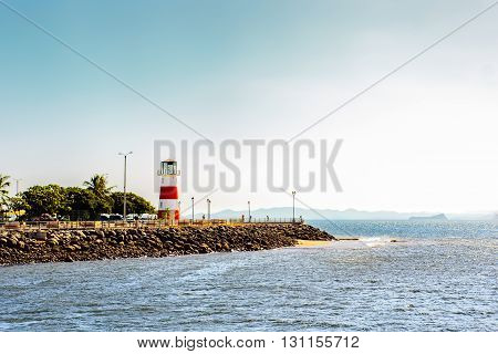 View of a lighthouse in the central pacific coast of Costa Rica