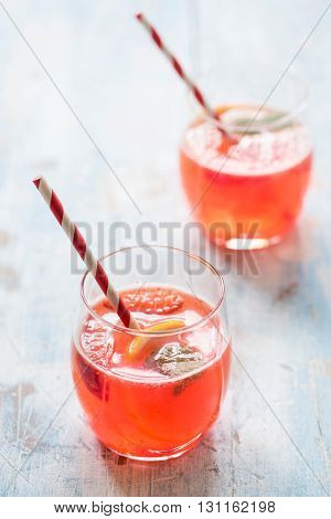 Strawberry Juice In The Glass