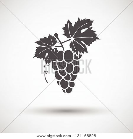 Grape Icon On Gray Background