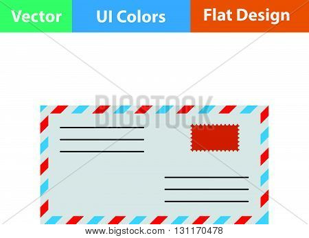 Flat Design Icon Of Letter