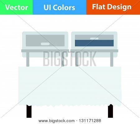 Chafing dish icon. Vector illustration. Flat design ui.