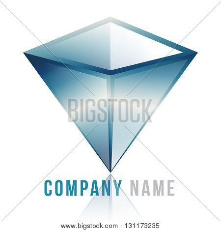 3d  diamante logo design 100%vector easy to re edit and re-size up to your target