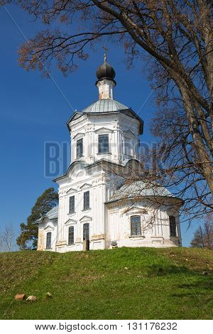 Church of Exaltation of the Cross Nilov hermitage Russia