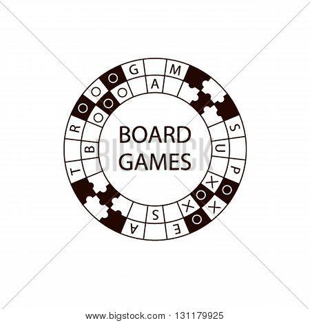 Vector Circle Logo Board Game.