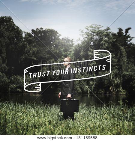 Trust Instinct Feeling Follow Wisdom Inspiration Concept