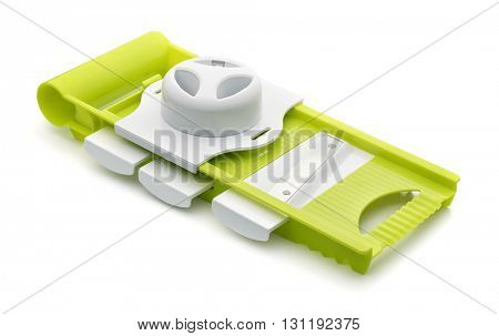 Vegetable adjustable slicer isolated on white